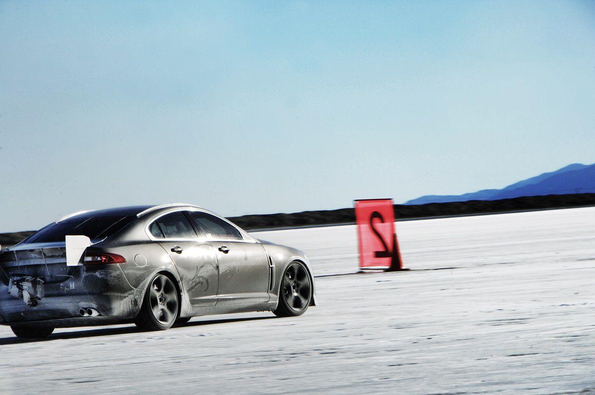 Jaguar, Jaguar XF-R, Rekord prędkości, Bonneville