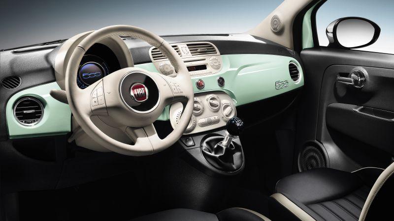 wnętrze Fiata 500